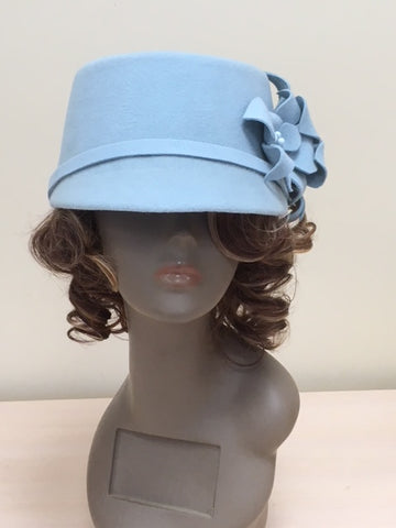 "Women felt hat ""Orchids"""