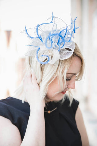 "White fascinator hat ""Cornelia"""