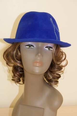 royal blue fedora swarovski crystals