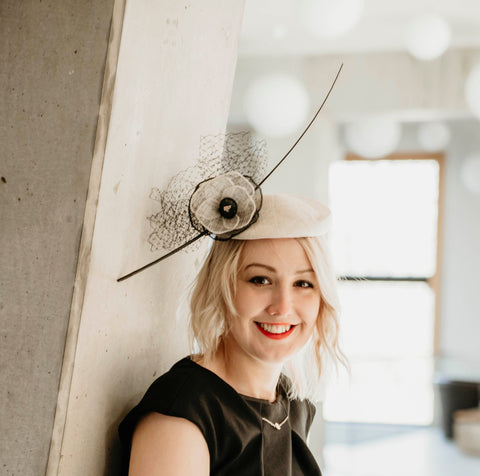 Wedding headpiece, Royal Ascot fascinator hat