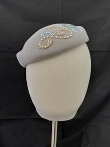 "Pillbox hat ""Swarovski Swirls"""