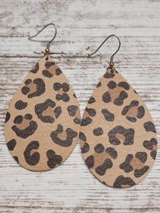 Leopard Leather Earring