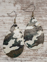Camo Cork Leather Earring
