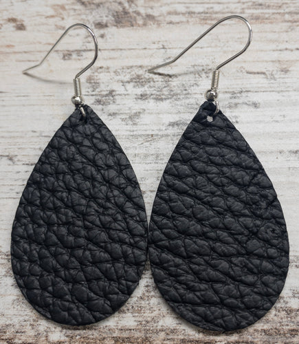 Original Black Leather Earring