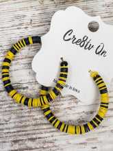 Recycled Vinyl Record Beaded Hoop Earring