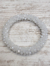White Opal Crystal Cluster Stretch Bracelet