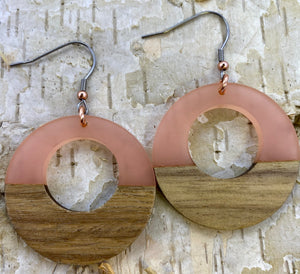 Wood & Resin Blush Circle Cutout
