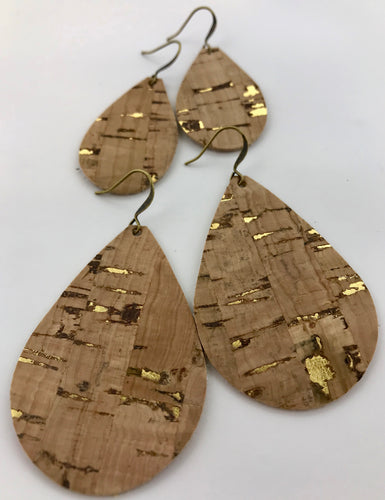 Cork Leather Earring