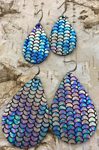 Mermaid Tail Leather Earring