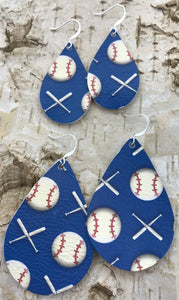 Baseball Leather Earring