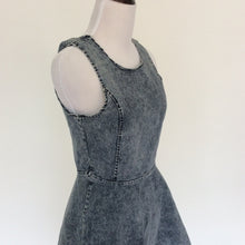 Vintage 90's acid wash denim style skater dress! XS! Very Saved By The Bell!
