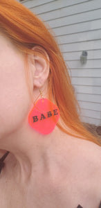 Babe Acrylic Earrings