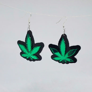 Sweet Leaf mirror acrylic earrings
