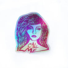 Call Me Holographic Sticker