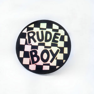 Rude Boy Holographic Sticker