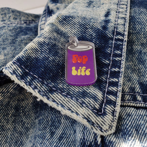 Pop Life Acrylic Lapel Pin + Sticker