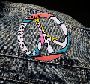 Peace 1987 Iron on Patch
