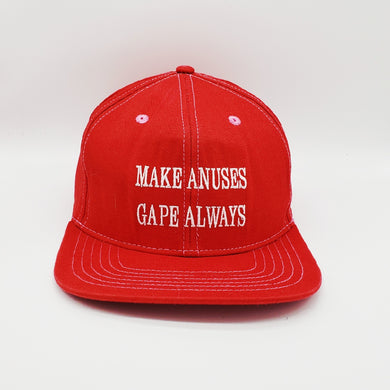MAGA Parody Snapback Hat! Make Anuses Gape Always!