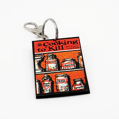 Cooking To Kill The Poison Cookbook Keychain