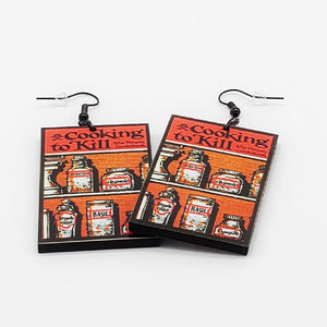 Cooking To Kill The Poison Cookbook Earrings