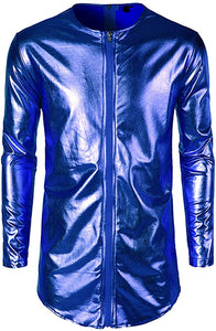 Metallic Blue Bomber Jacket Size XL + Rave Accessory