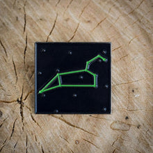 Leo Constellation BLACK LIGHT REFLECTIVE Glow In The Dark enamel pin!