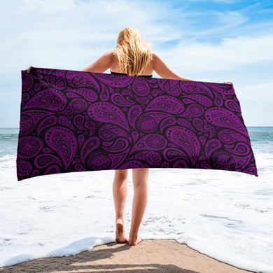 Purple Paisley Towel
