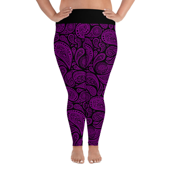 Purple Paisley Leggings (Plus Size)