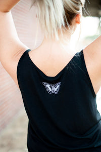 d4h Black Butterfly Tank Top