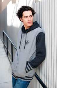 Limited Edition d4h Classic Logo Charcoal/Gray Varsity Jacket