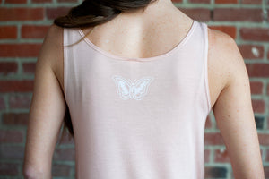 d4h Peach Butterfly Tank Top