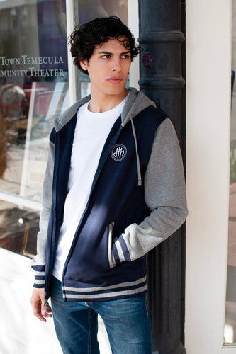 Limited Edition d4h Classic Logo Navy/Gray Varsity Jacket