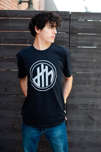 d4h Logo Black Crew Neck T-shirt