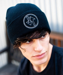 Arrow Logo Black Beanie