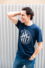 d4h Logo Navy Blue Crew Neck T-shirt
