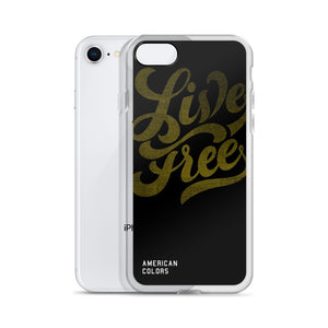 Live Free Vintage iPhone Case
