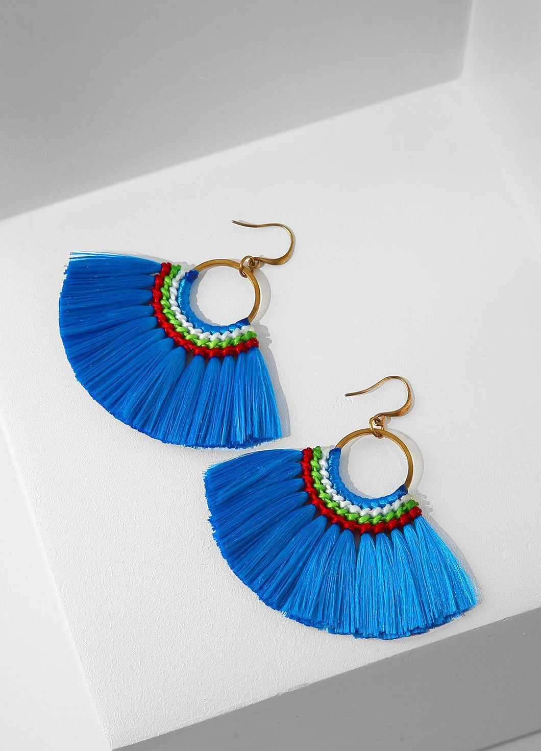 Bird Of Paradise Earrings (blue) Earrings - FIACCI
