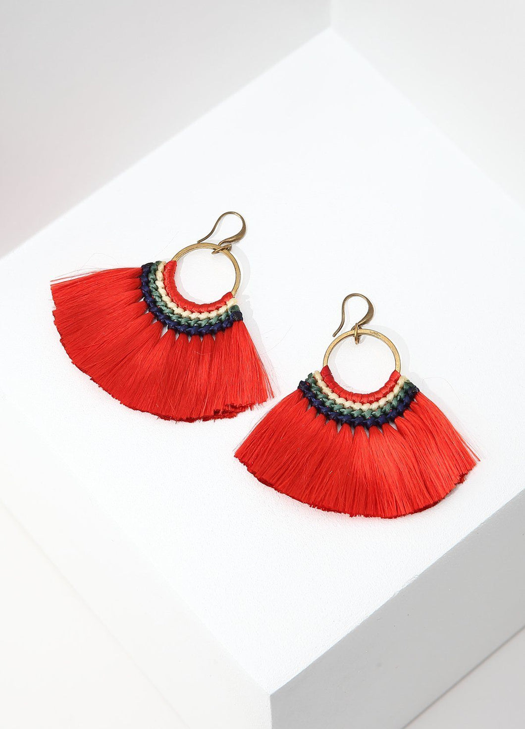 Bird Of Paradise Earrings (red) Earrings - FIACCI