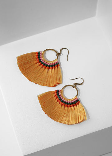 Bird Of Paradise Earrings (yellow) Earrings - FIACCI