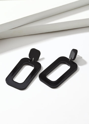 Black Frame Earrings - FIACCI