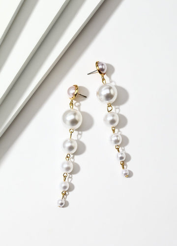 Cascading Pearls Earrings - FIACCI