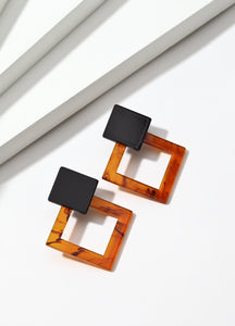 Cubism (orange) Earrings - FIACCI