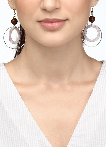 Double Fun Hoop Earring (pink) Earrings - FIACCI