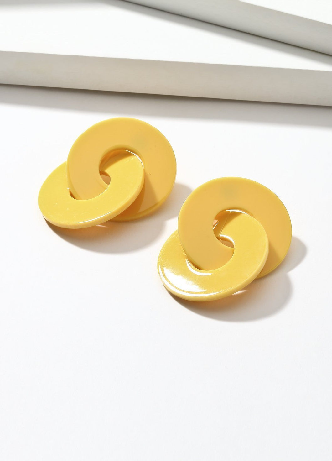 Double Twist (yellow) Earrings - FIACCI