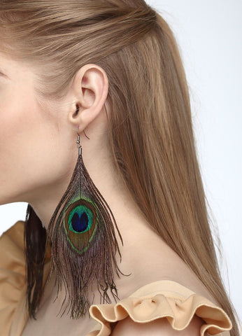 Enchanting Peacock Earrings Earrings - FIACCI