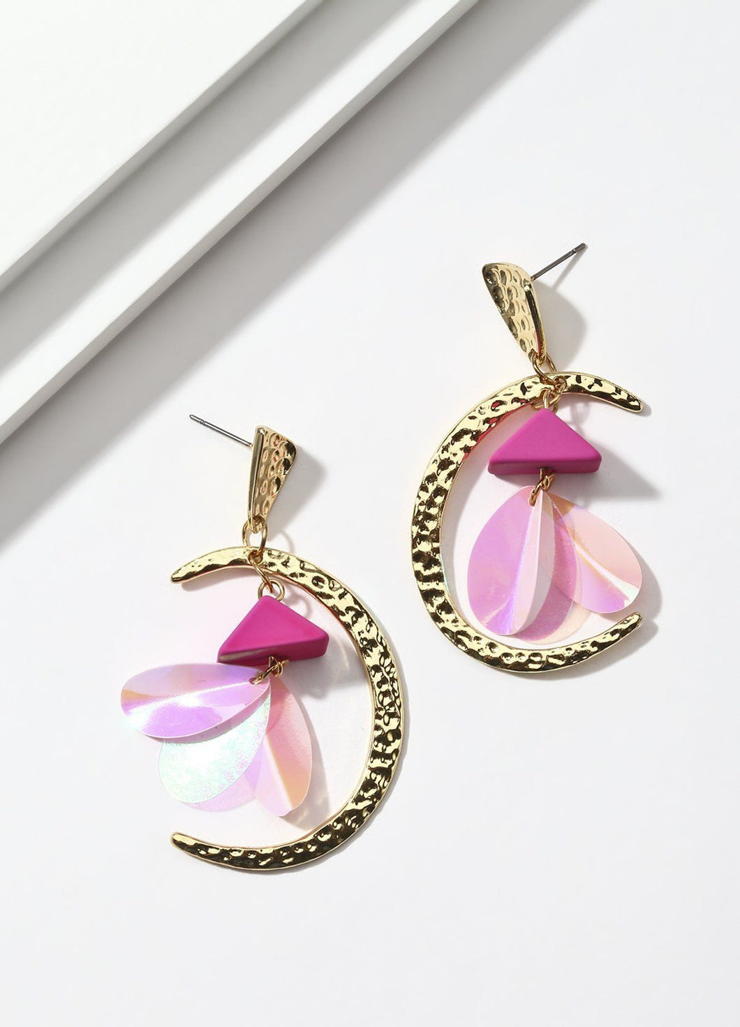 Fly Me To The Moon (pink) Earrings - FIACCI
