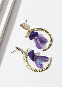 Fly Me To The Moon (violet) Earrings - FIACCI