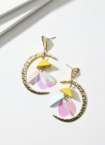 Fly Me To The Moon (yellow) Earrings - FIACCI