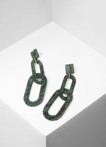 Linked To Love Earrings (green) Earrings - FIACCI