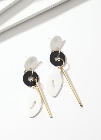 Modern Art (black/white) Earrings - FIACCI